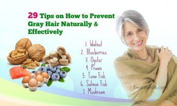How to prevent gray hair