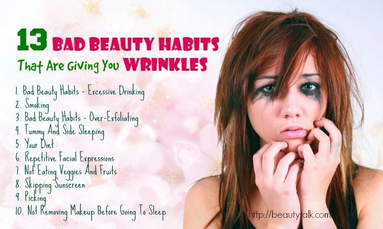 bad beauty habits