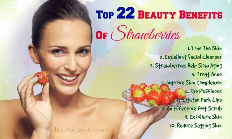 beauty benefits of strawberries