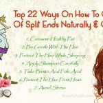 how to get rid of split ends naturally fast
