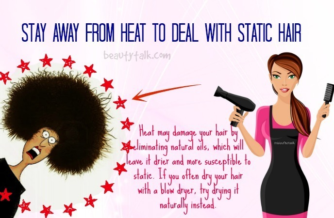 how to get rid of static hair