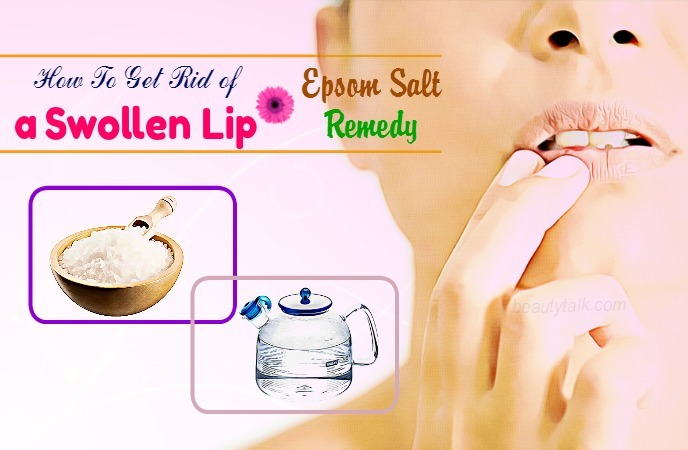 how to get rid of a swollen lip