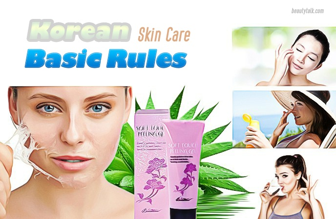 korean skin care routine - basic rules