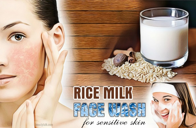 face wash for sensitive skin - rice milk face wash