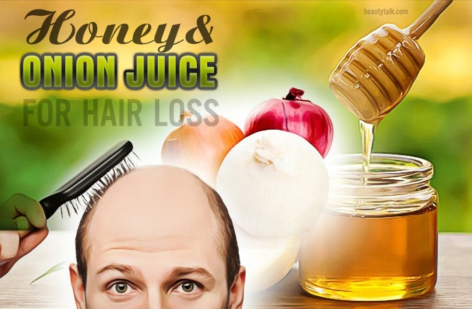 onion juice for hair loss - honey & onion juice