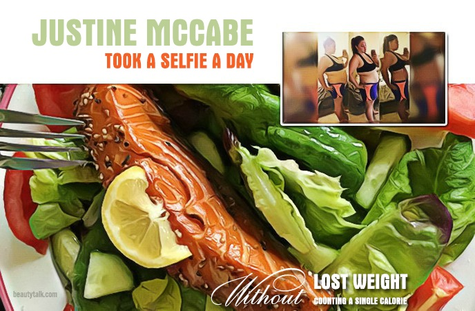 lost weight without counting a single calorie - justine mccabe took a selfie a day