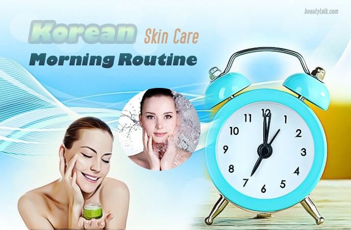 korean skin care routine - morning routine