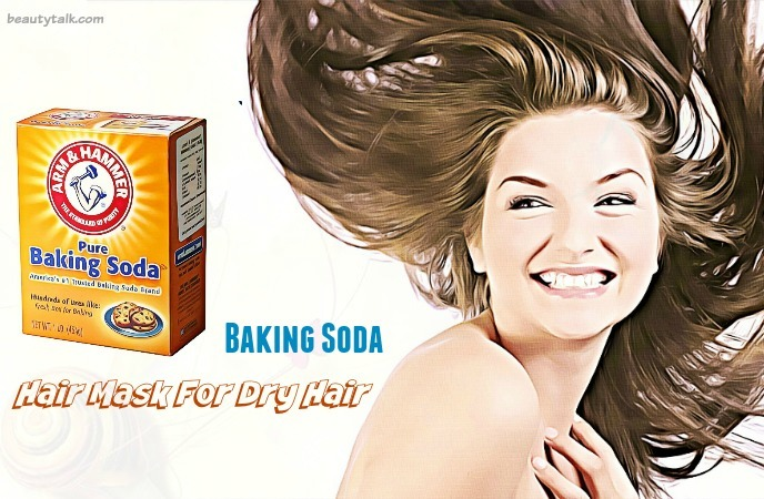 hair mask for dry hair - baking soda
