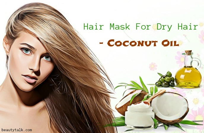 hair mask for dry hair - coconut oil hair mask