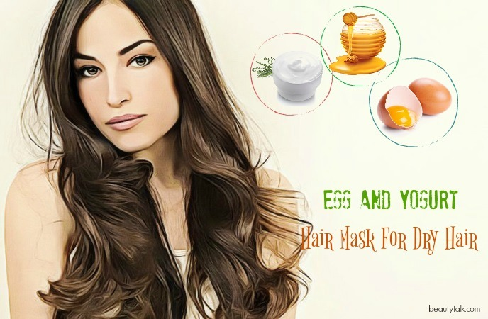 hair mask for dry hair - egg and yogurt hair mask