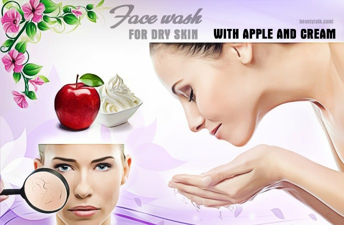 face wash for dry skin - face wash for dry skin with apple and cream