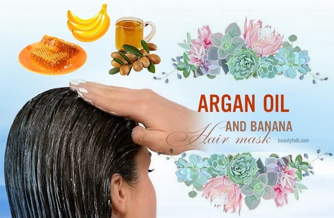 banana hair mask - argan oil and banana hair mask