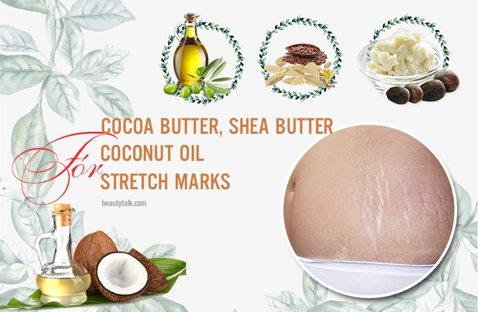 coconut oil for stretch marks - cocoa butter, shea butter, and coconut oil for stretch marks