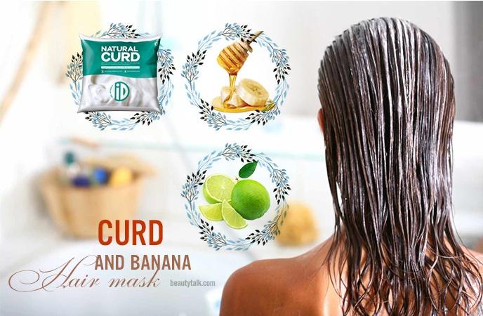 banana hair mask - curd and banana hair mask