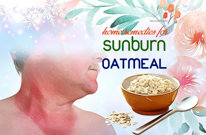home remedies for sunburn - oatmeal