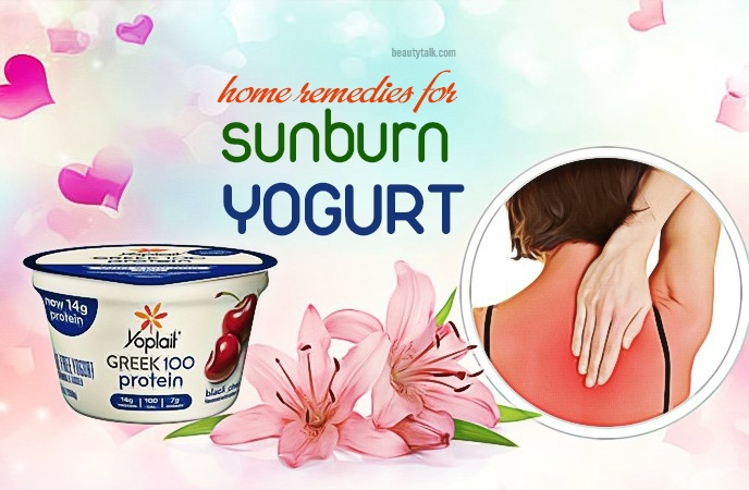 home remedies for sunburn - yogurt