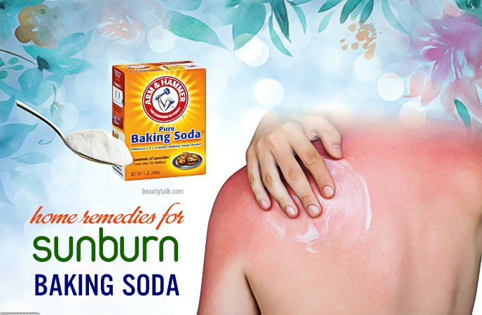 home remedies for sunburn - baking soda