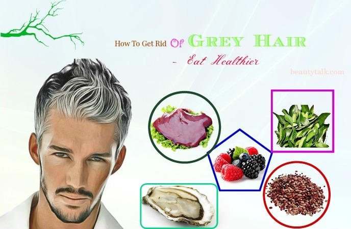 how to get rid of grey hair in eyebrows - eat healthier