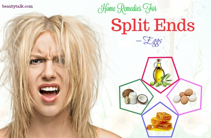 home remedies for split ends - eggs