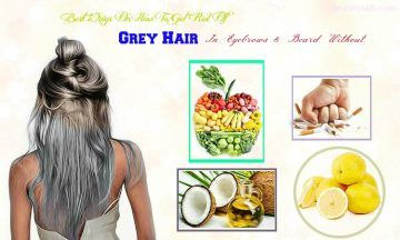 how to get rid of grey hair without dye