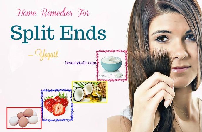 home remedies for split ends - yogurt