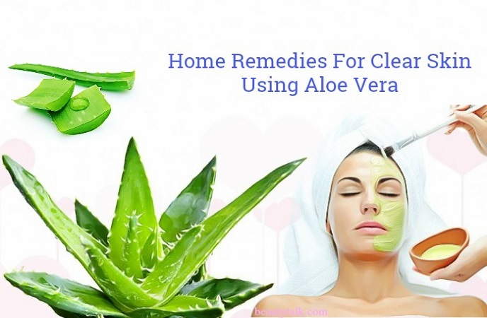 home remedies for clear skin overnight - aloe vera