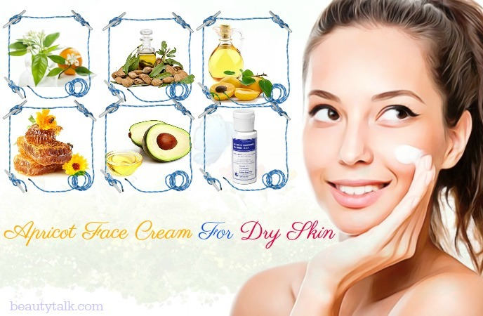 face cream for dry skin in summer - apricot face cream