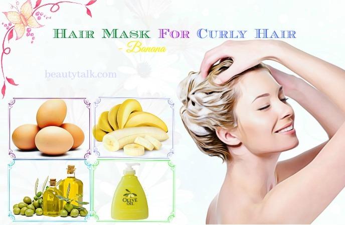 recipes for hair mask for curly hair - banana hair mask