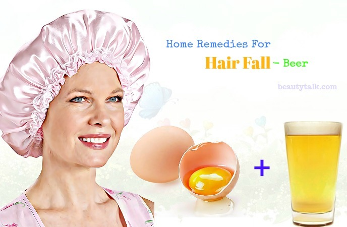 home remedies for hair fall and dandruff -beer