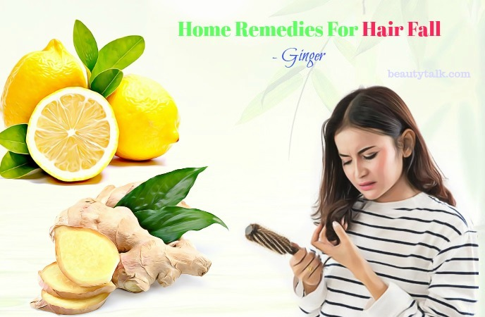 natural home remedies for hair fall - ginger