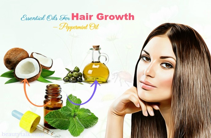 essential oils for hair growth - peppermint oil