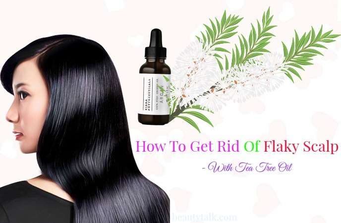 how to get rid of flaky scalp in winter - tea tree oil