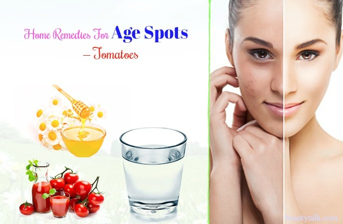best home remedies for age spots - tomatoes