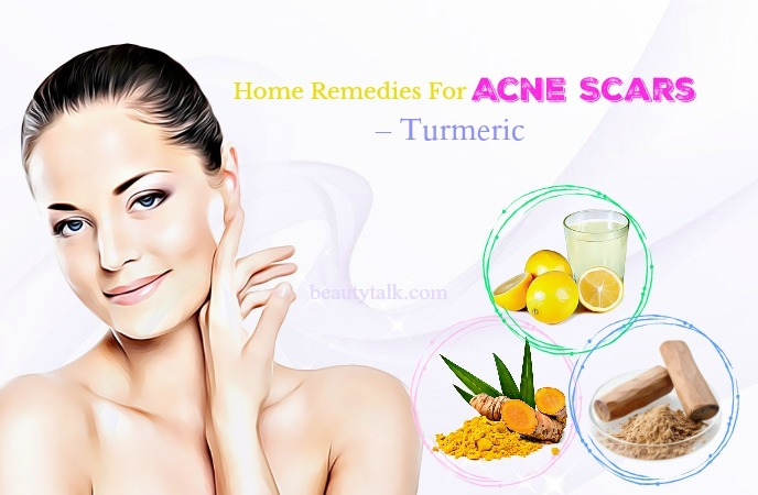 home remedies for acne scars on forehead - turmeric