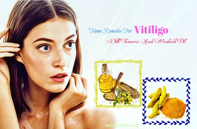 home remedies for vitiligo on lips - turmeric and mustard oil
