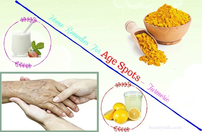 home remedies for age spots on face - turmeric