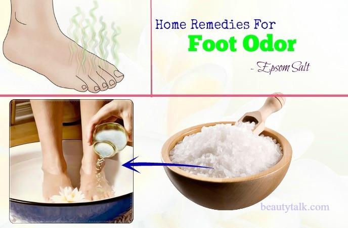 natural home remedies for foot odor - epsom salt