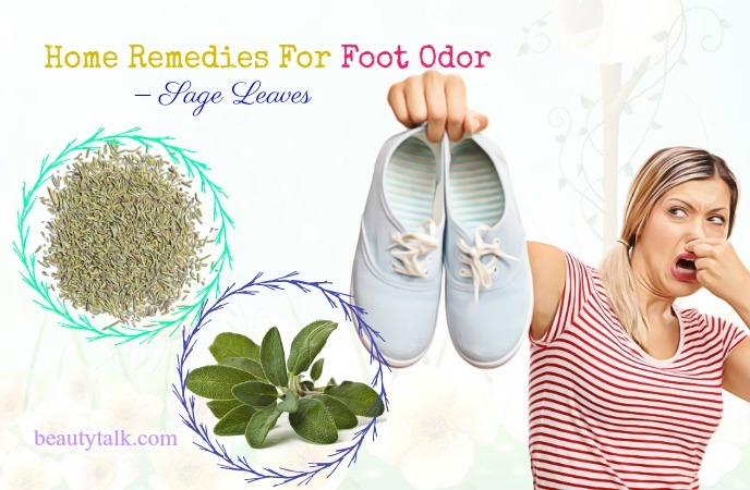 home remedies for foot odor in men - sage leaves