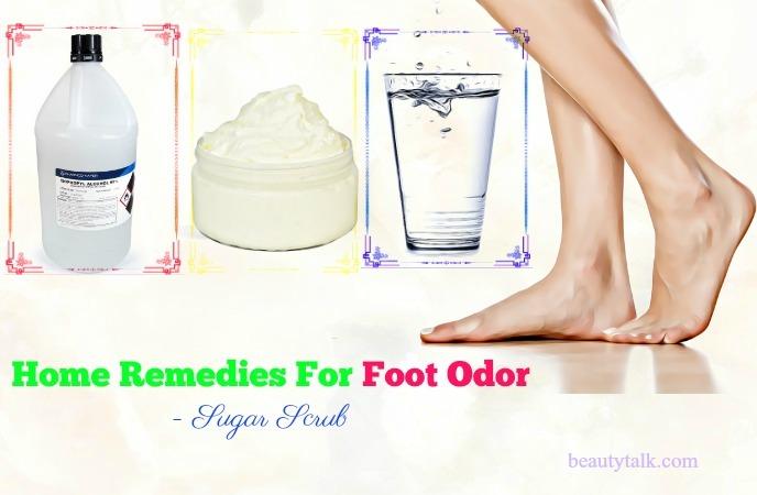 home remedies for foot odor in women - sugar scrub