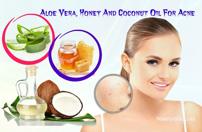 with aloe vera, honey