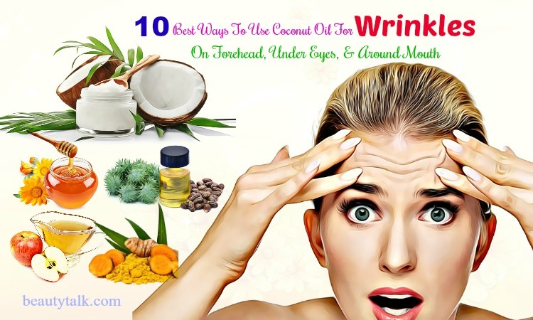 coconut oil for wrinkles under eyes