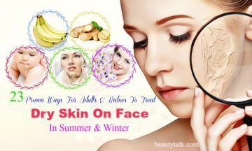 dry skin on face in summer
