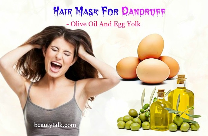 olive oil & egg yolk hair mask