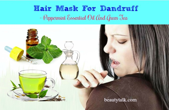 peppermint & green tea hair mask