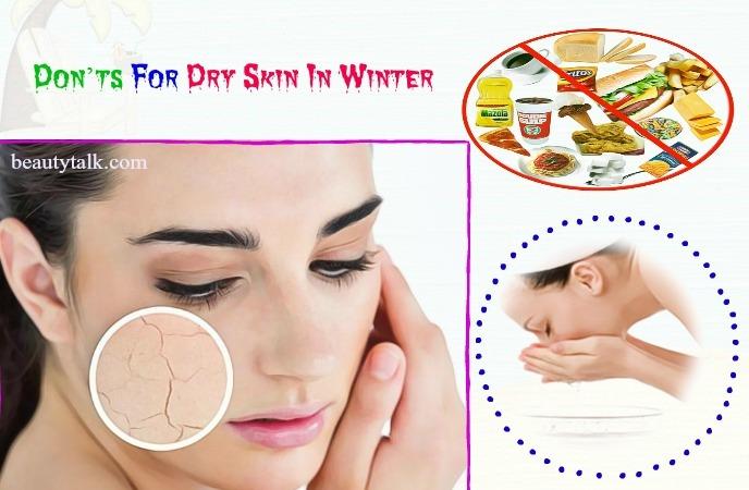 dry skin in winter - don'ts for dry skin in winter