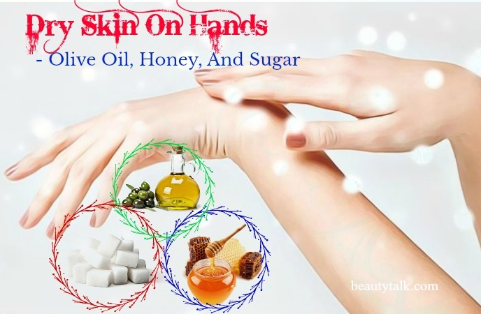 olive oil, honey, and sugar