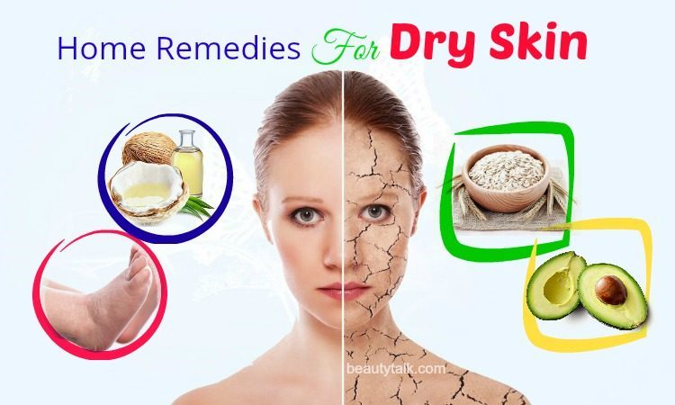 home remedies for dry skin on face