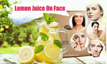 how to use lemon juice on face
