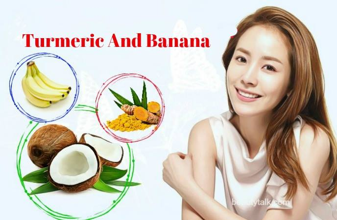 coconut oil for face moisturizer - turmeric anh banana