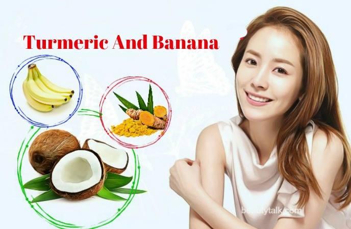 coconut oil for face moisturizer - turmeric anh banana